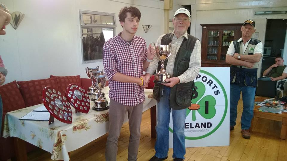 Ross Keegan receiving his prize for 1st place in the Junior Section 2013 CSI league